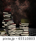 3d stack of books in the room 65510803