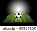 3D soccer ball on field 65510805