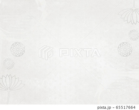 喪中-はがき-菊-背景素材-和紙-和柄 65517664