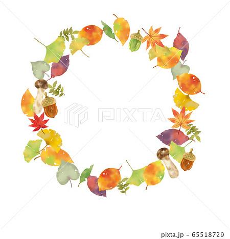 秋のモチーフ リース 65518729