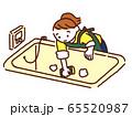 女性 主婦 お風呂掃除 65520987