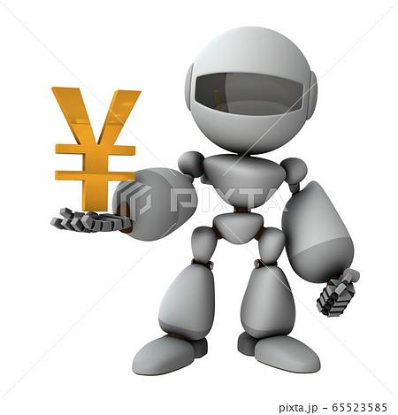 日本経済を支配する人工知能のロボット 65523585