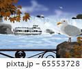 秋のナイアガラの滝のイラスト 65553728
