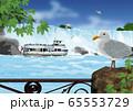 夏のナイアガラの滝のイラスト 65553729