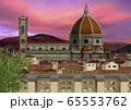 夕景のドゥオモのイラスト 65553762