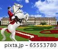 オーストリア シェーンブルン宮殿と乗馬のイラスト 65553780