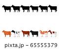 いろいろな牛の列1 65555379