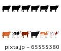 いろいろな牛の列2 65555380