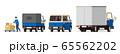 宅配便、配達、宅配便車両、イラスト、セット 65562202