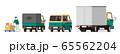 宅配便、配達、宅配便車両、イラスト、セット 65562204