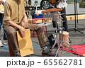 野外ライブのカホン演奏 65562781
