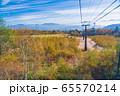 (長野県)御岳ロープウェイ 眼下の景色 65570214