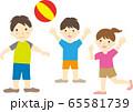 ボールで遊ぶ人半袖 65581739