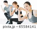 エアロビクス フィットネス エアロビ スポーツジム ダンス 女性 エクササイズ 65584141