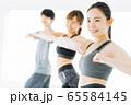 エアロビクス フィットネス エアロビ スポーツジム ダンス 女性 エクササイズ 65584145