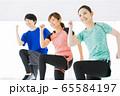 エアロビクス フィットネス エアロビ スポーツジム ダンス 女性 エクササイズ 65584197