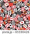 トランプカードパターンB(黒背景) 65590426