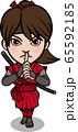 女忍者 赤色 65592185