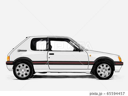 retro car illustration 65594457