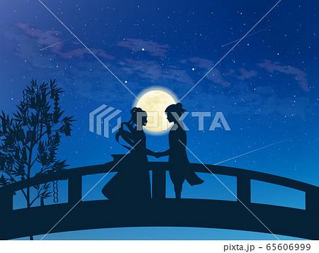 七夕 織姫と彦星の再会 風景イラスト 65606999