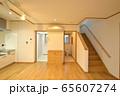 新築住宅 木造注文住宅の屋内 ダイニングルーム 65607274