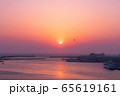 三浦半島から望むダイヤモンド富士(神奈川県 城ヶ島大橋より) 65619161