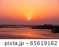 三浦半島から望むダイヤモンド富士(神奈川県 城ヶ島大橋より) 65619162