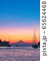 海からの富士山夕景(神奈川 三浦半島) 65624468