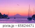 海からの富士山夕景(神奈川 三浦半島) 65624471