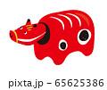 赤べこ イラスト 65625386