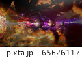 Colorful solar system with nine planets and 65626117