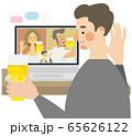 オンライン飲み会 ベクター イラスト 65626122