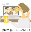 オンライン飲み会 ベクター イラスト 65626123