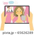 オンライン飲み会 お茶 ベクター イラスト 65626289
