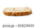 Slice of bread isolated on white 65629935