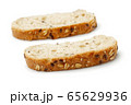 Slice of bread isolated on white 65629936