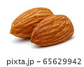 Group of almonds isolated on white 65629942