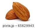 Group of almonds isolated on white 65629943