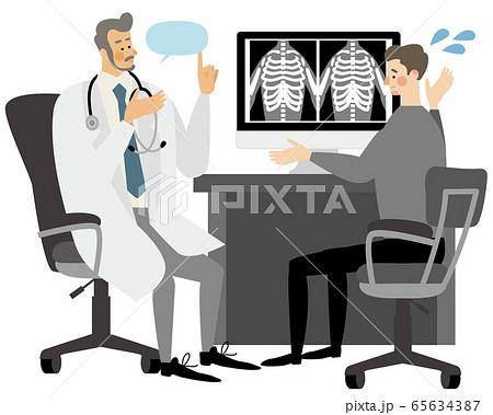医者 病院 診療 困る イラスト ベクター 65634387