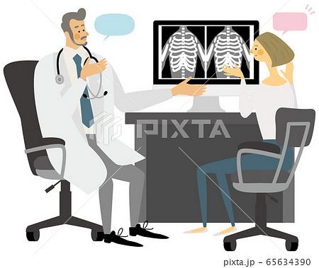 医者 病院 診療 女性 イラスト ベクター 65634390
