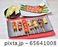 焼鳥、ヤキトリ、やきとり、焼き鳥、串焼きのセットイメージ。 65641008
