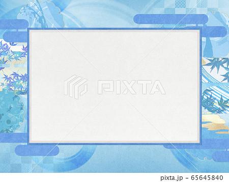 和風背景素材-清涼感-和紙-夏-水紋-波紋 65645840