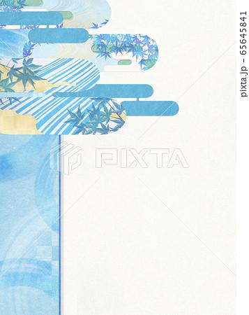 和風背景素材-清涼感-和紙-夏-水紋-波紋 65645841