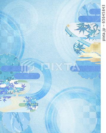 和風背景素材-清涼感-和紙-夏-水紋-波紋 65645843