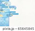 和風背景素材-清涼感-和紙-夏-水紋-波紋 65645845