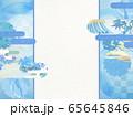 和風背景素材-清涼感-和紙-夏-水紋-波紋 65645846