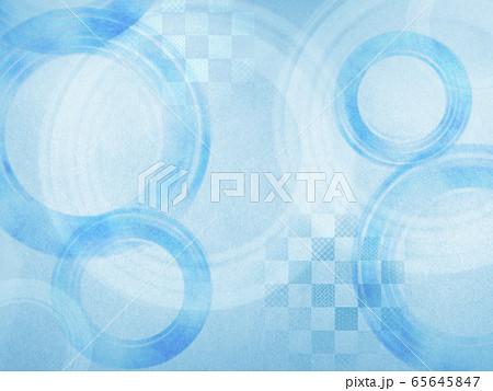 和風背景素材-和紙-夏-清涼-水紋-波紋 65645847