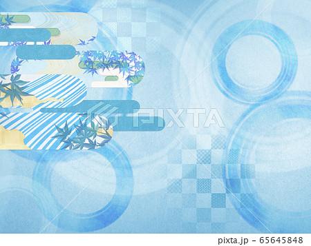 和風背景素材-清涼感-和紙-夏-水紋-波紋 65645848