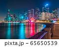 Night view of Qingdao financial district 65650539