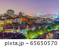 Night scene of houses and city buildings 65650570